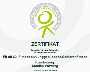 Zertifikat Senioren Fitness