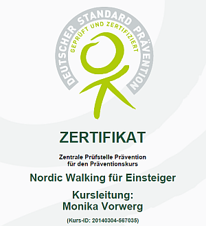 Zertifikat Nordic Walking